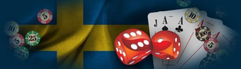 svensk flagga tärningar kortlek